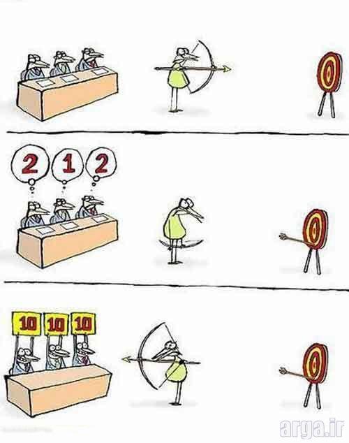 مسابقه تیراندازی در کاریکاتور
