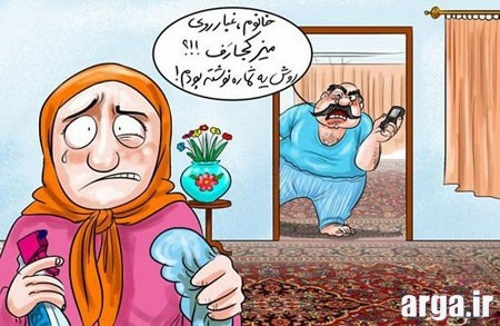 کاریکاتور خانه داری زنان