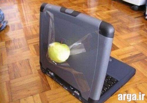 لپ تاپ اپل در تصاویر خنده دار