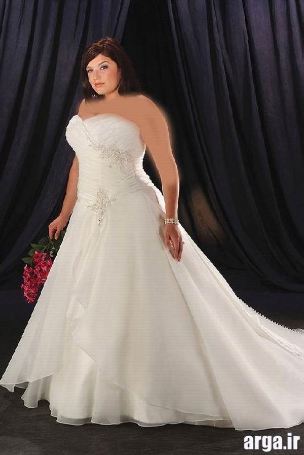 لباس عروس برای افراد چاق زیبا