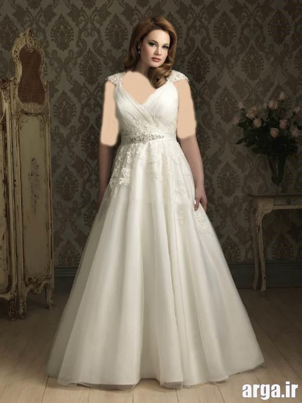 لباس عروس برای افراد چاق مدرن
