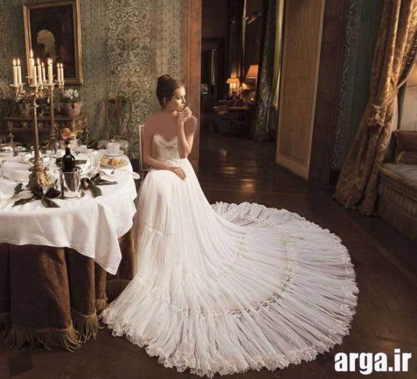 مدل های دنباله دار زیبا لباس عروس