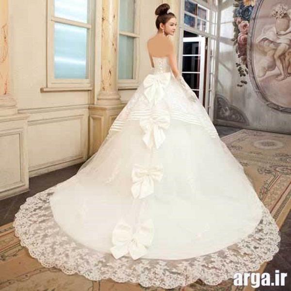 مدل های دنباله دار شیک لباس عروس
