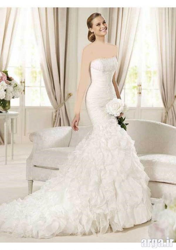 مدل های دنباله دار مدرن لباس عروس