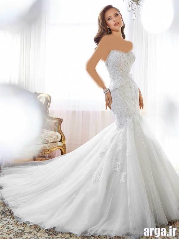 لباس های دنباله دار جدید عروس
