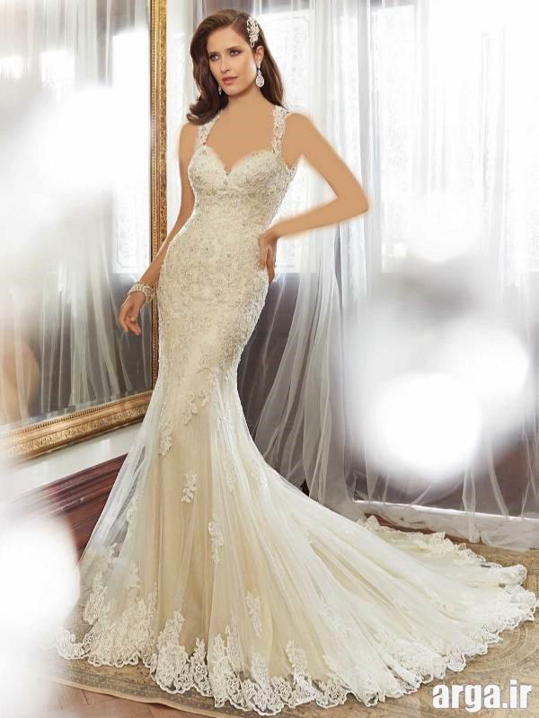 لباس های دنباله دار شیک عروس