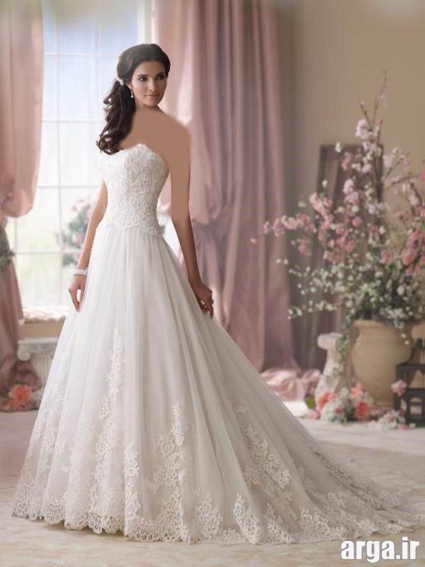 لباس عروس دنباله دار جدید