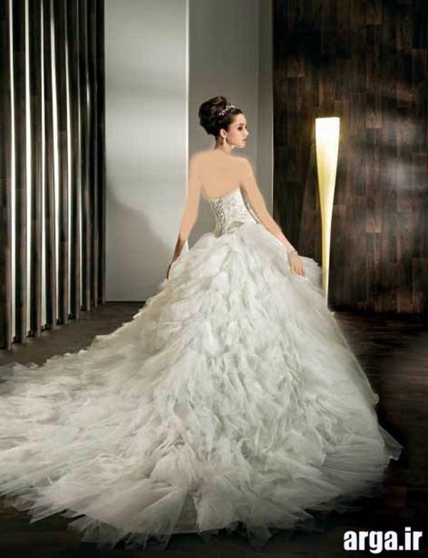 لباس های دنباله دار جذاب عروس