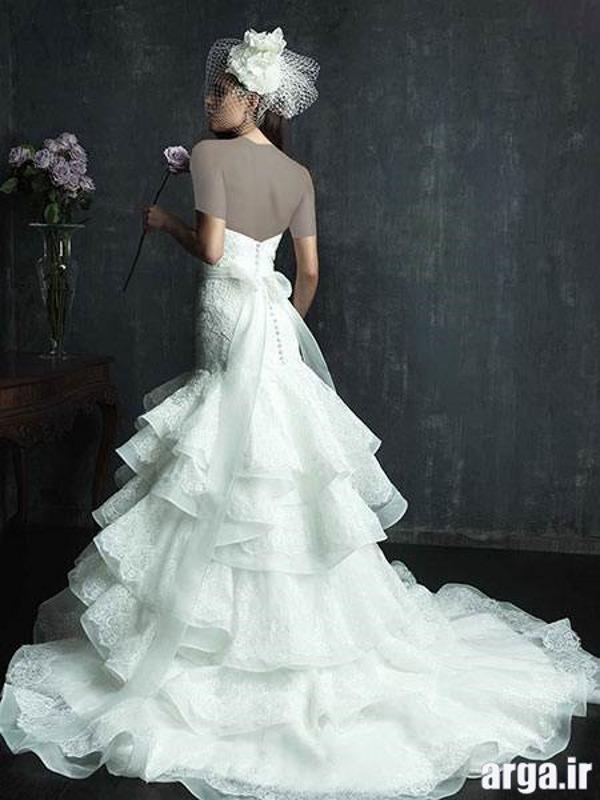 لباس عروس دنباله دار جذاب