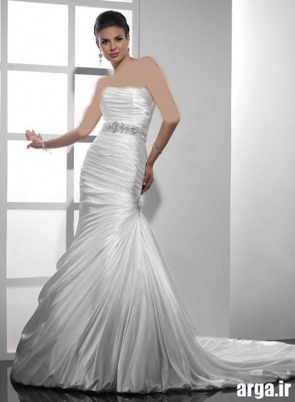 لباس عروس زیبا دنباله دار