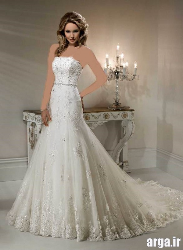 لباس عروس جدید دنباله دار