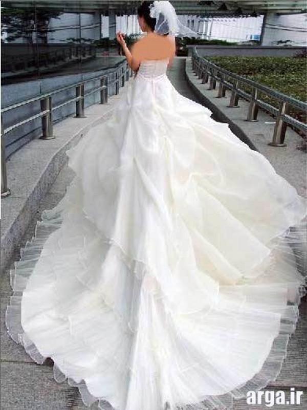 لباس عروس مدرن دنباله دار