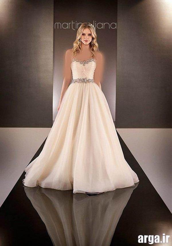 لباس عروس به رنگ نباتی