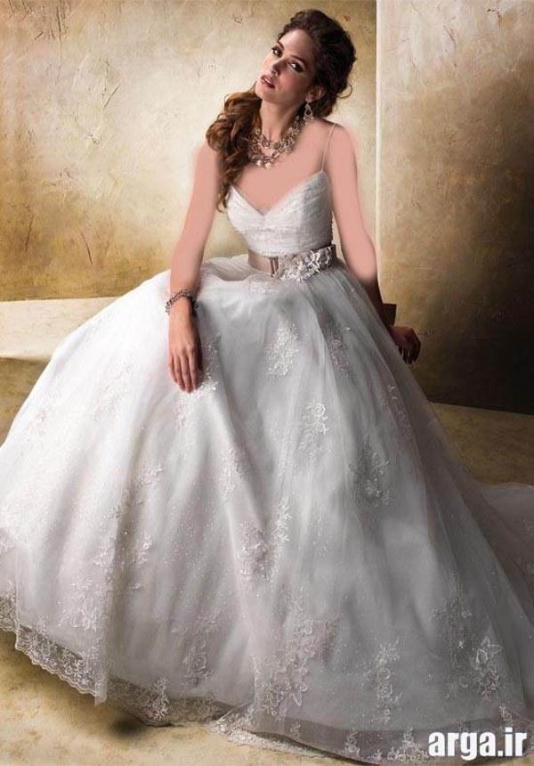 لباس عروس مدرن و شیفون دار اروپایی