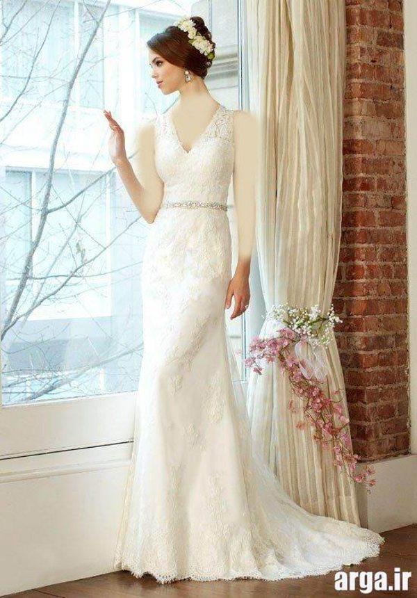 لباس عروس بدون شیفون اروپایی