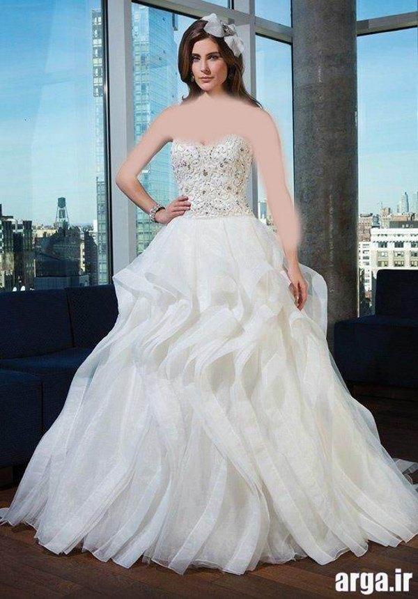 لباس عروس اروپایی زیبا و مدرن