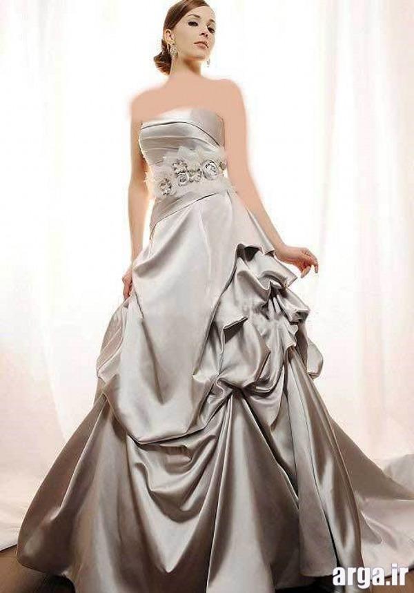 مدل لباس نقره ای مدرن عروس
