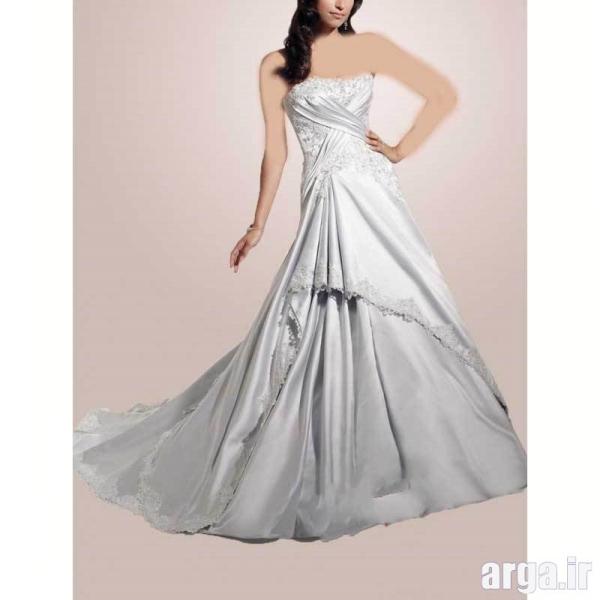 مدل لباس نقره ای زیبا عروس