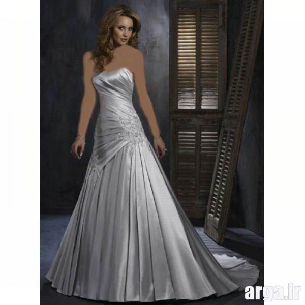 مدل لباس نقره ای جدید عروس
