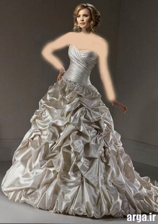 مدل لباس نقره ای شیک عروس