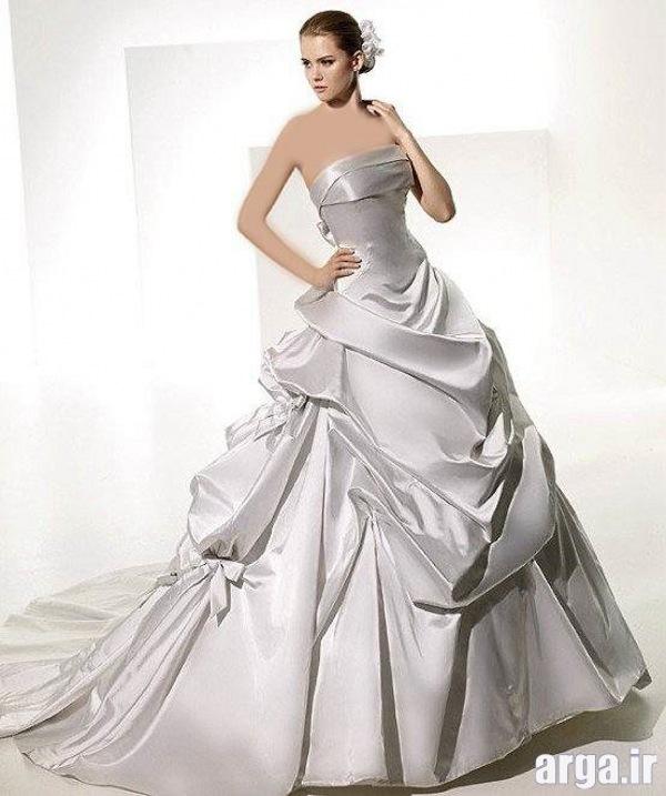 مدل لباس نقره ای جذاب عروس