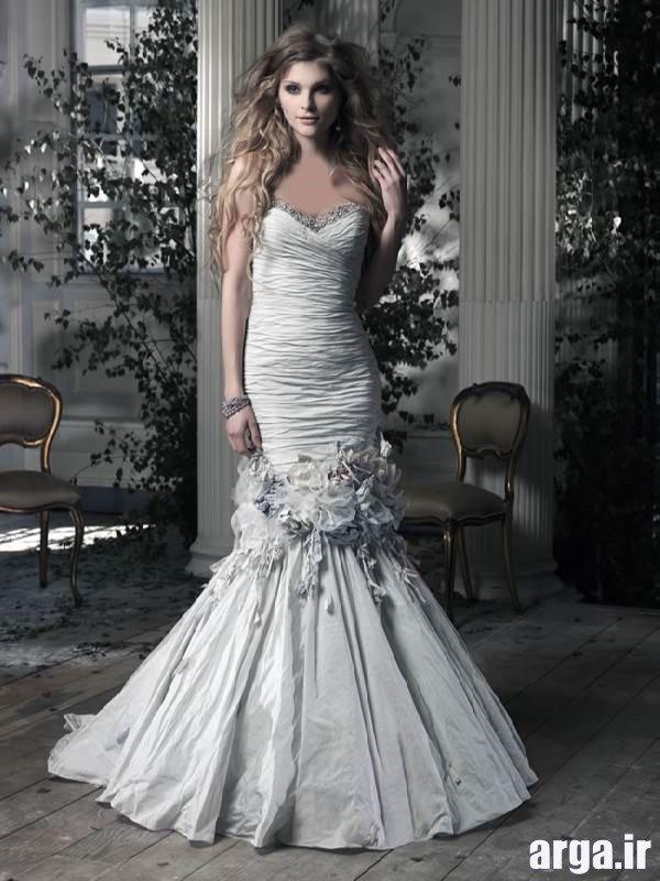 لباس های جذاب عروس نقره ای