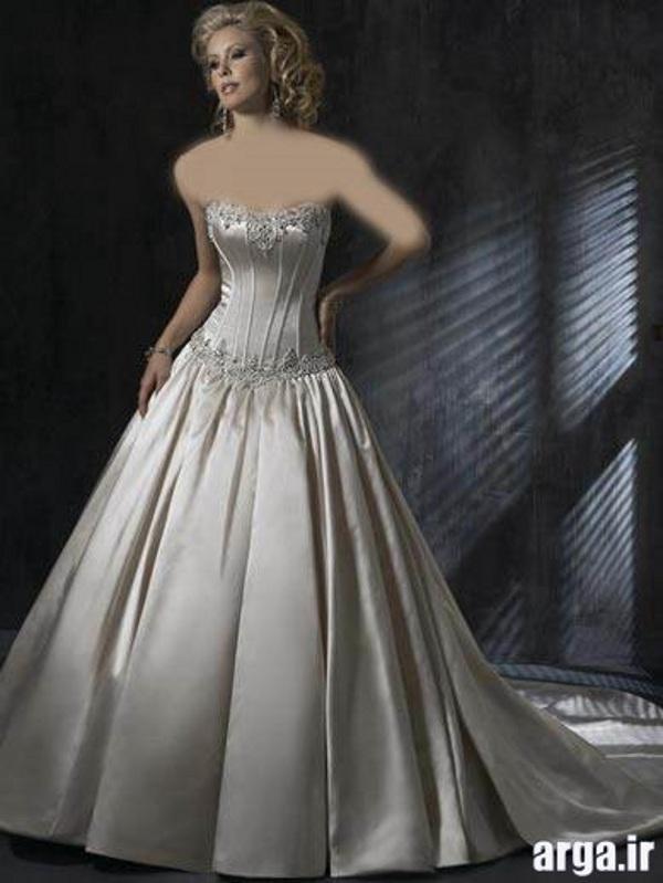 لباس های شیک عروس نقره ای