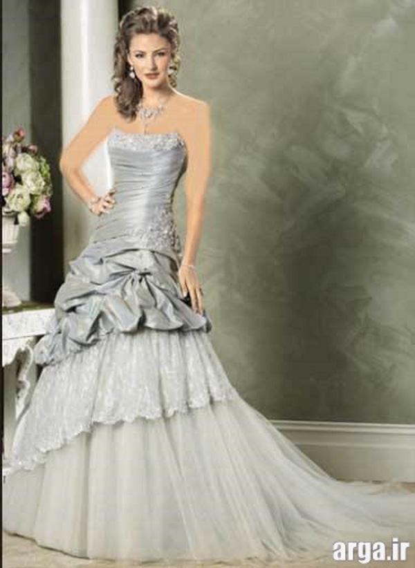 لباس عروس نقره ای جدید