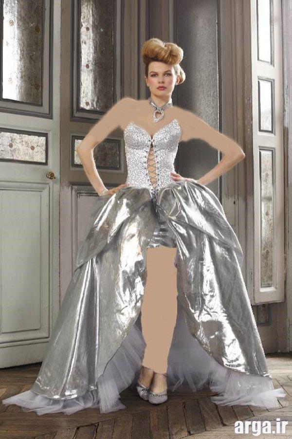 لباس های مدرن عروس نقره ای