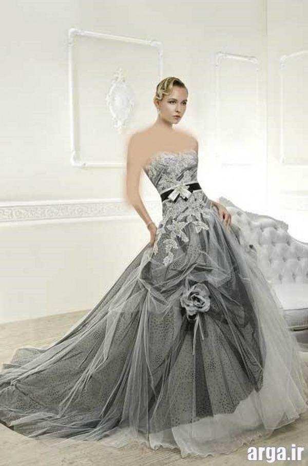 لباس عروس نقره ای شیک