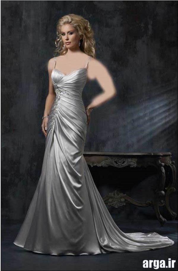 لباس عروس نقره ای مدرن