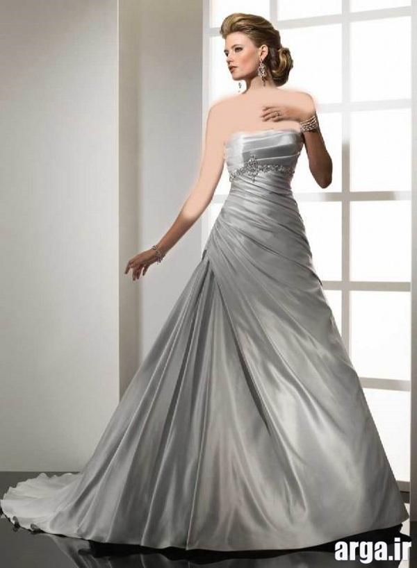 لباس عروس نقره ای جذاب
