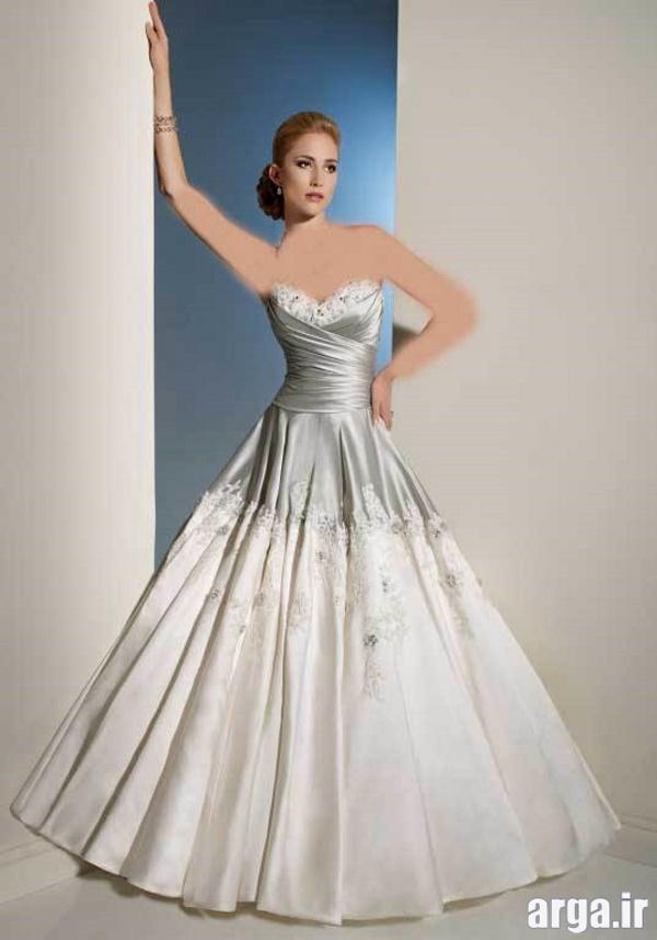 لباس عروس جدید نقره ای