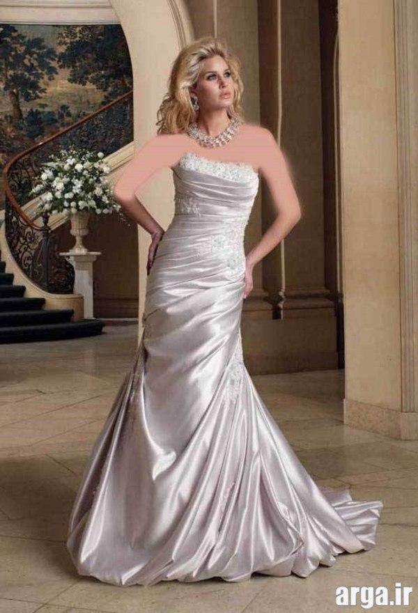 لباس عروس شیک نقره ای