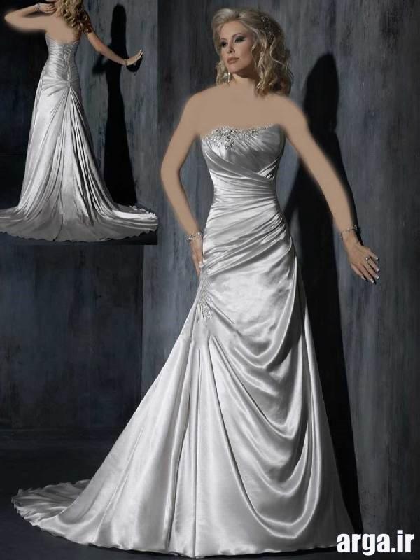 لباس عروس مدرن نقره ای