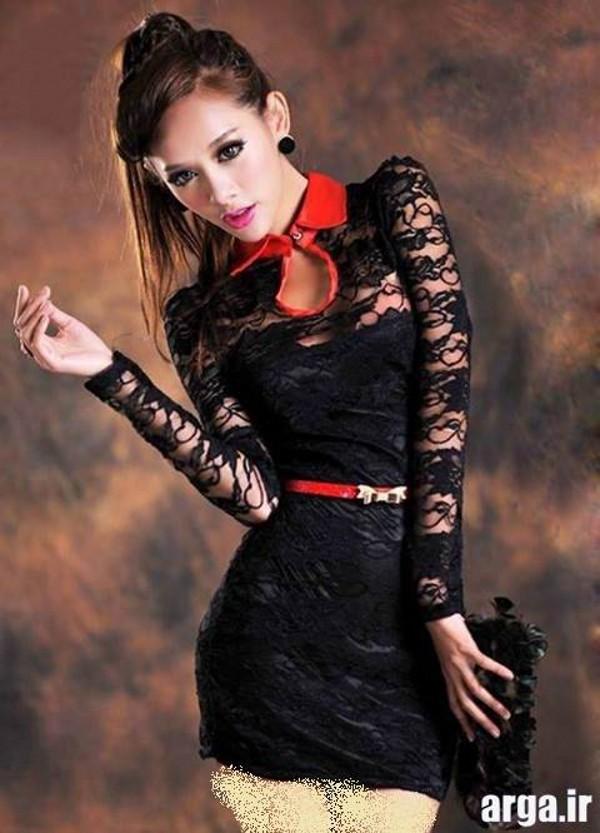 لباس مجلسی زیبا گیپور