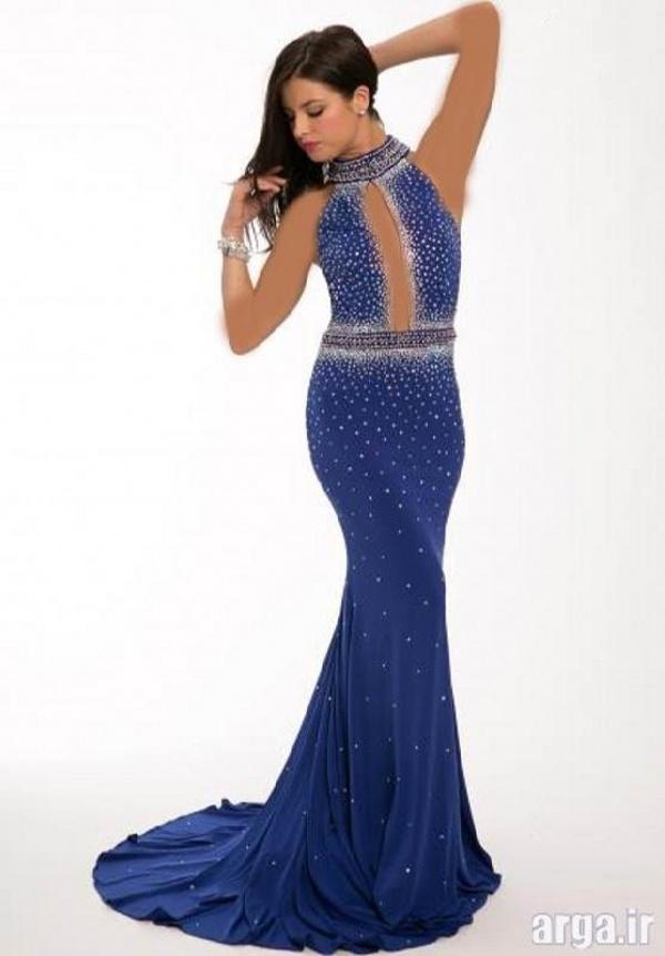 لباس مجلسی شیک به رنگ آبی