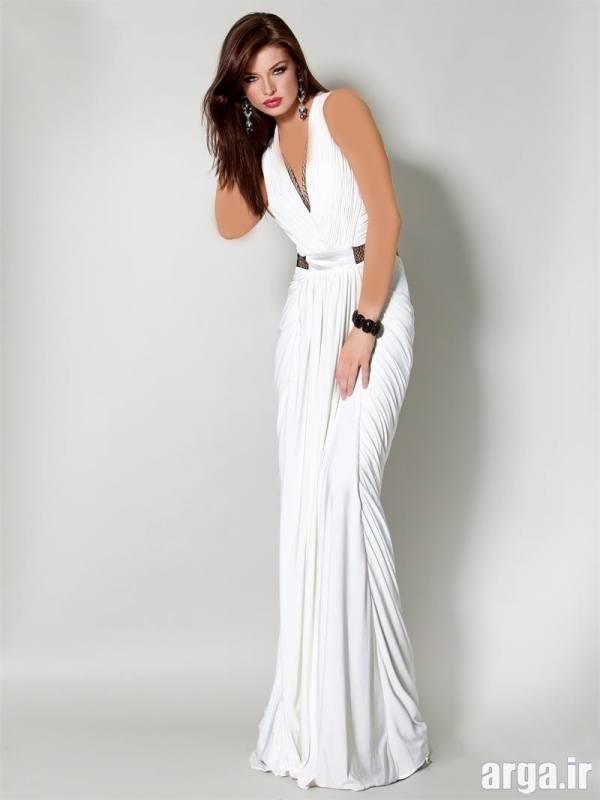 لباس مجلسی سفید کلاسیک