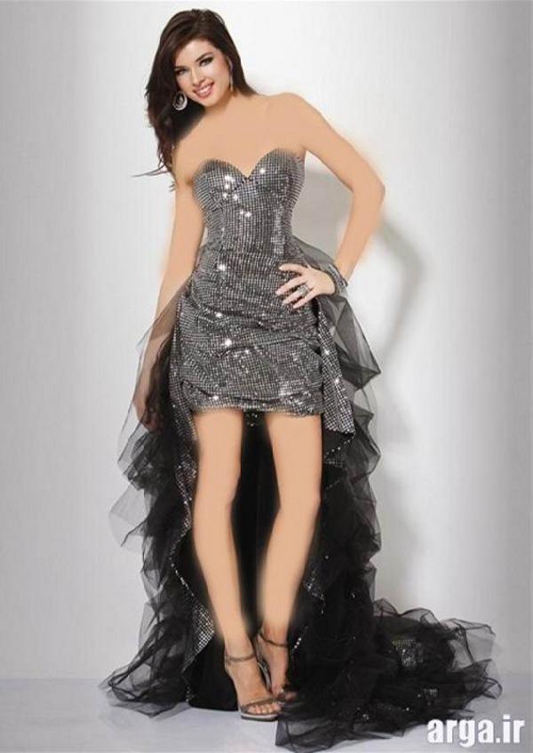 مدل لباس مجلسی نقره ای شیک