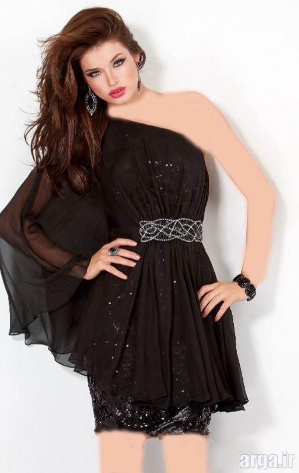 لباس شب مشکی جدید و زیبا