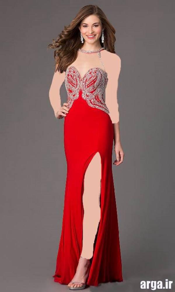 مدل لباس مجلسی قرمز جدید
