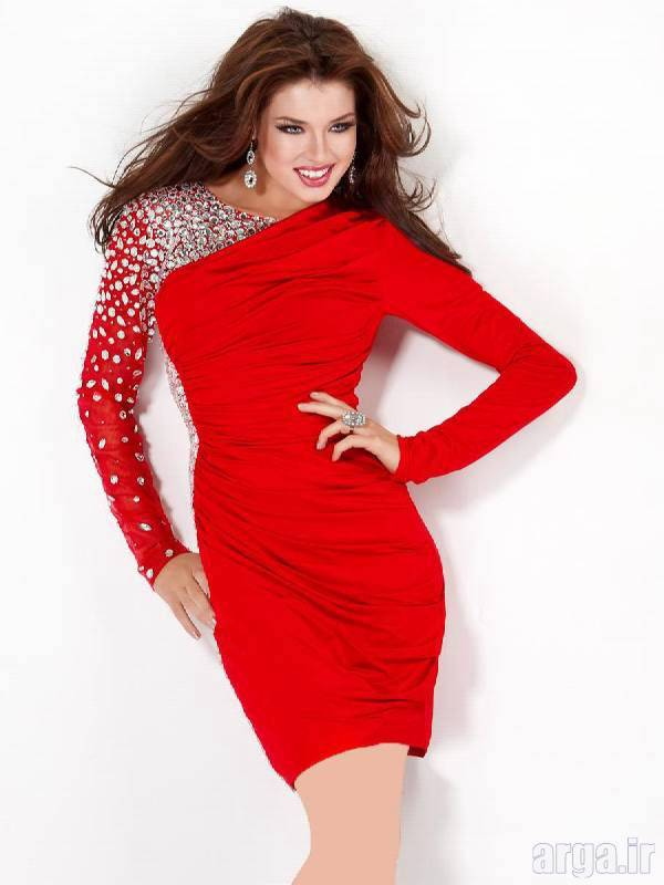 لباس مجلسی قرمز زیبا و باکلاس