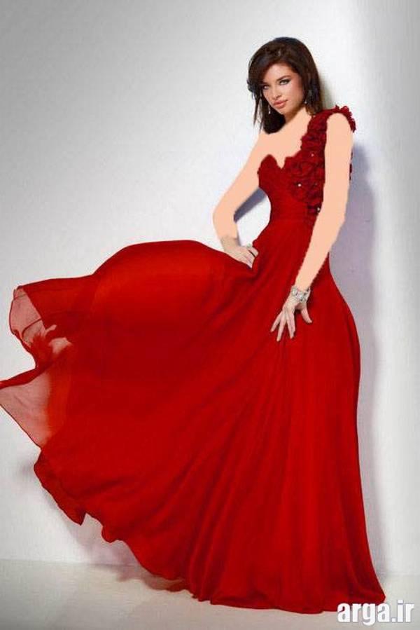 لباس مجلسی قرمز مدرن