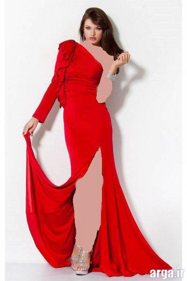 لباس مجلسی قرمز مدرن و زیبا