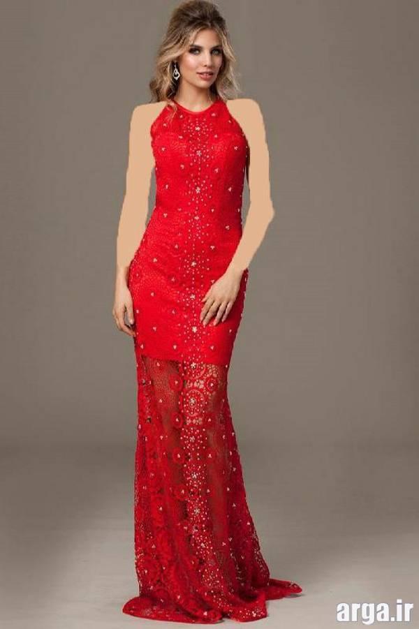 لباس مجلسی قرمز مدرن و جدید