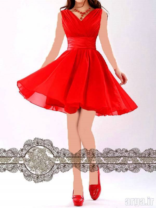 لباس مجلسی قرمز مدرن و شیک
