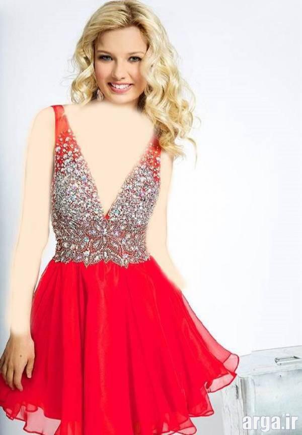 لباس مجلسی قرمز شیک و زیبا