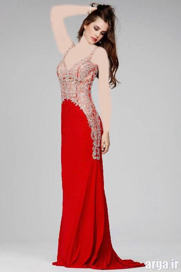 لباس مجلسی قرمز شیک و جدید
