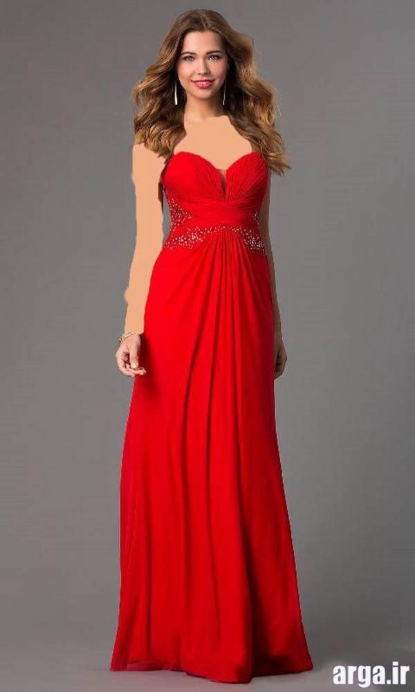 مدل لباس مجلسی قرمز جدید و زیبا