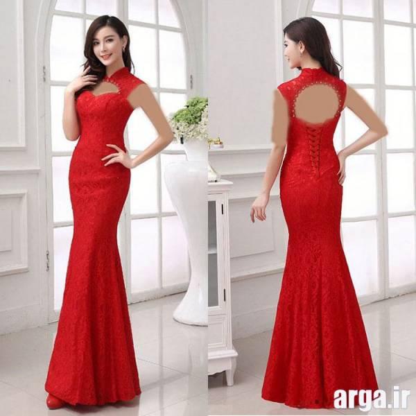 لباس مجلسی قرمز شیک و باکلاس